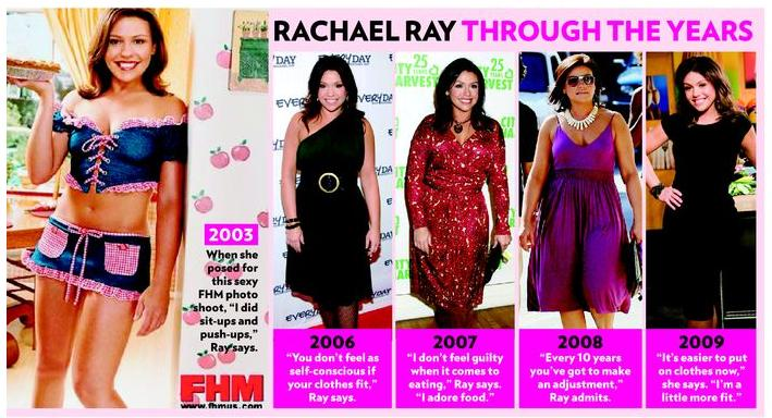 rachael ray weight loss before and after pictures